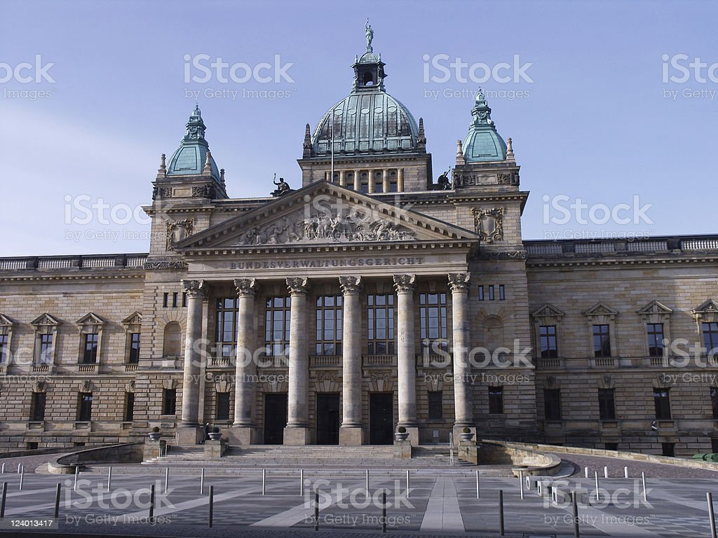Court of justice in Leipzig stock photo