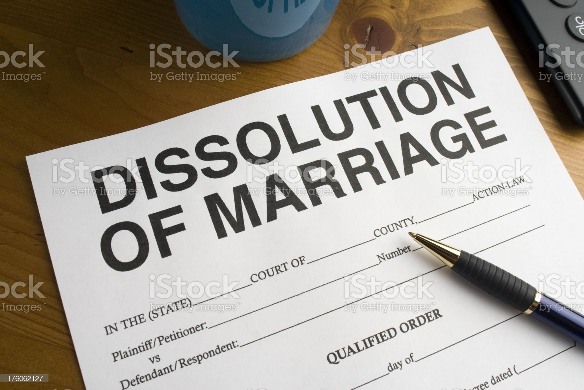 Court paper work for Divorce royalty-free stock photo