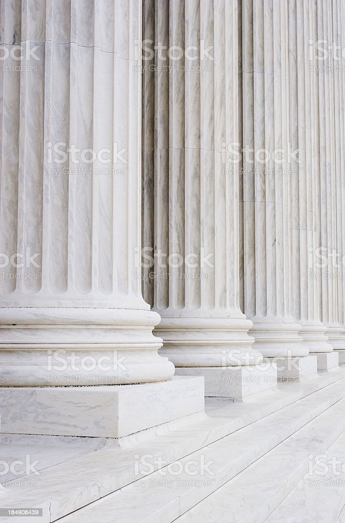 Court pillars royalty-free stock photo