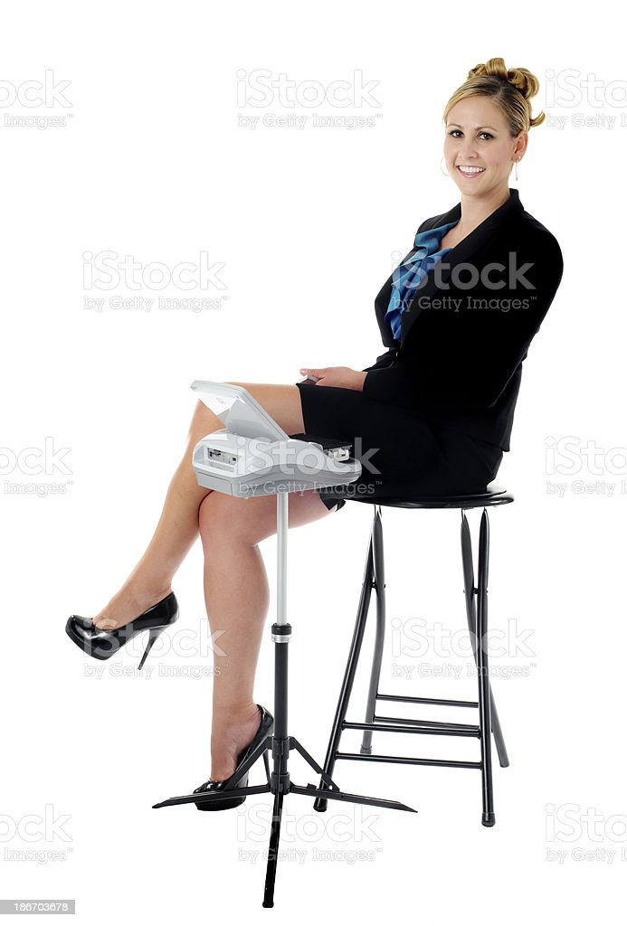 court reporter royalty-free stock photo