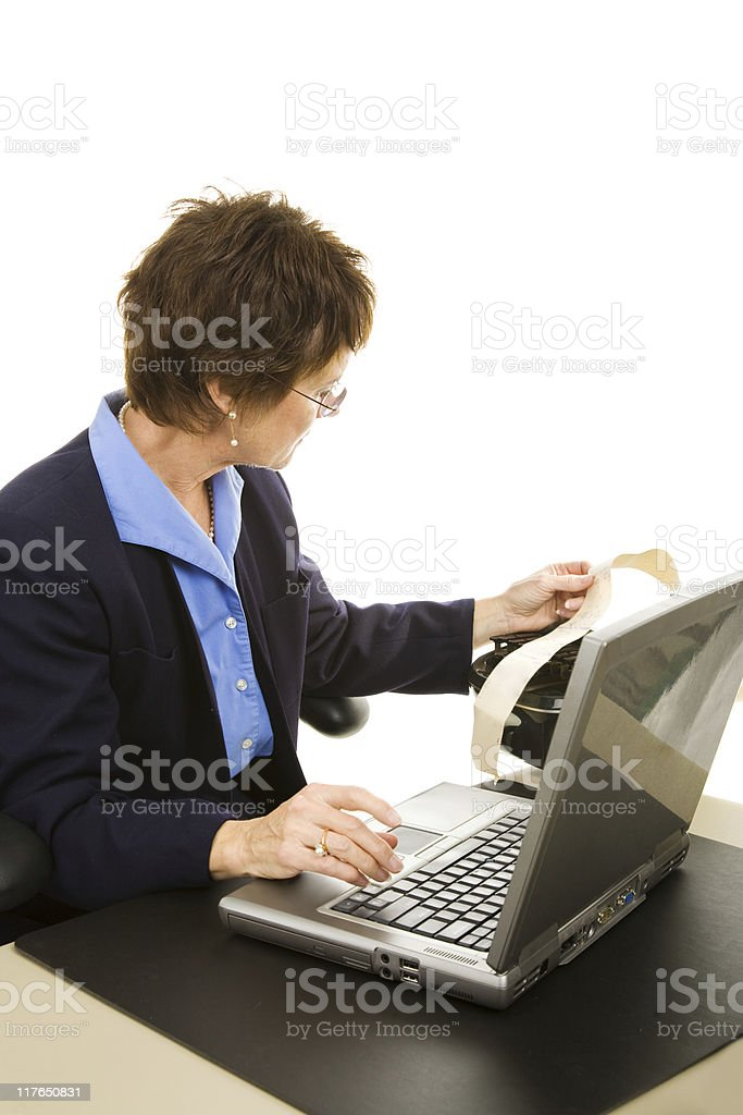 Court Reporter Transcribing stock photo
