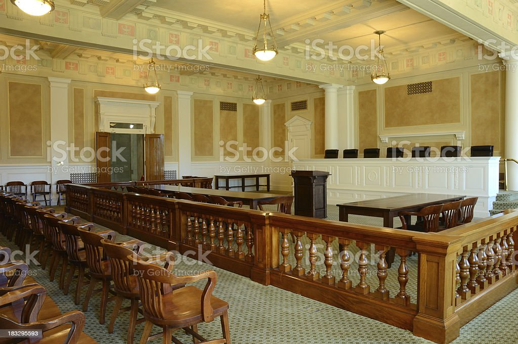 Court Room royalty-free stock photo