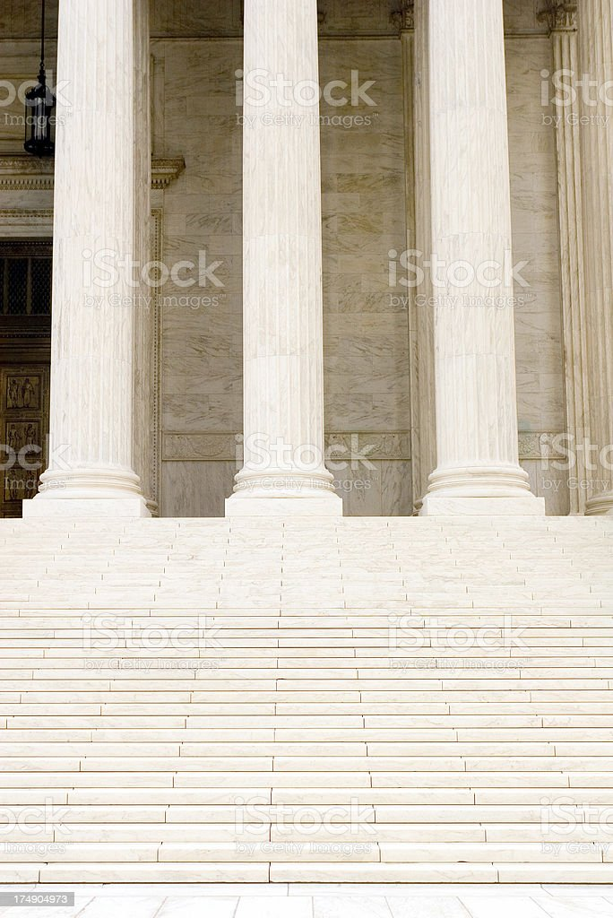 Court steps royalty-free stock photo