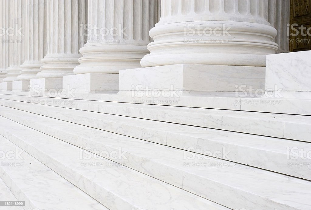 Court steps stock photo