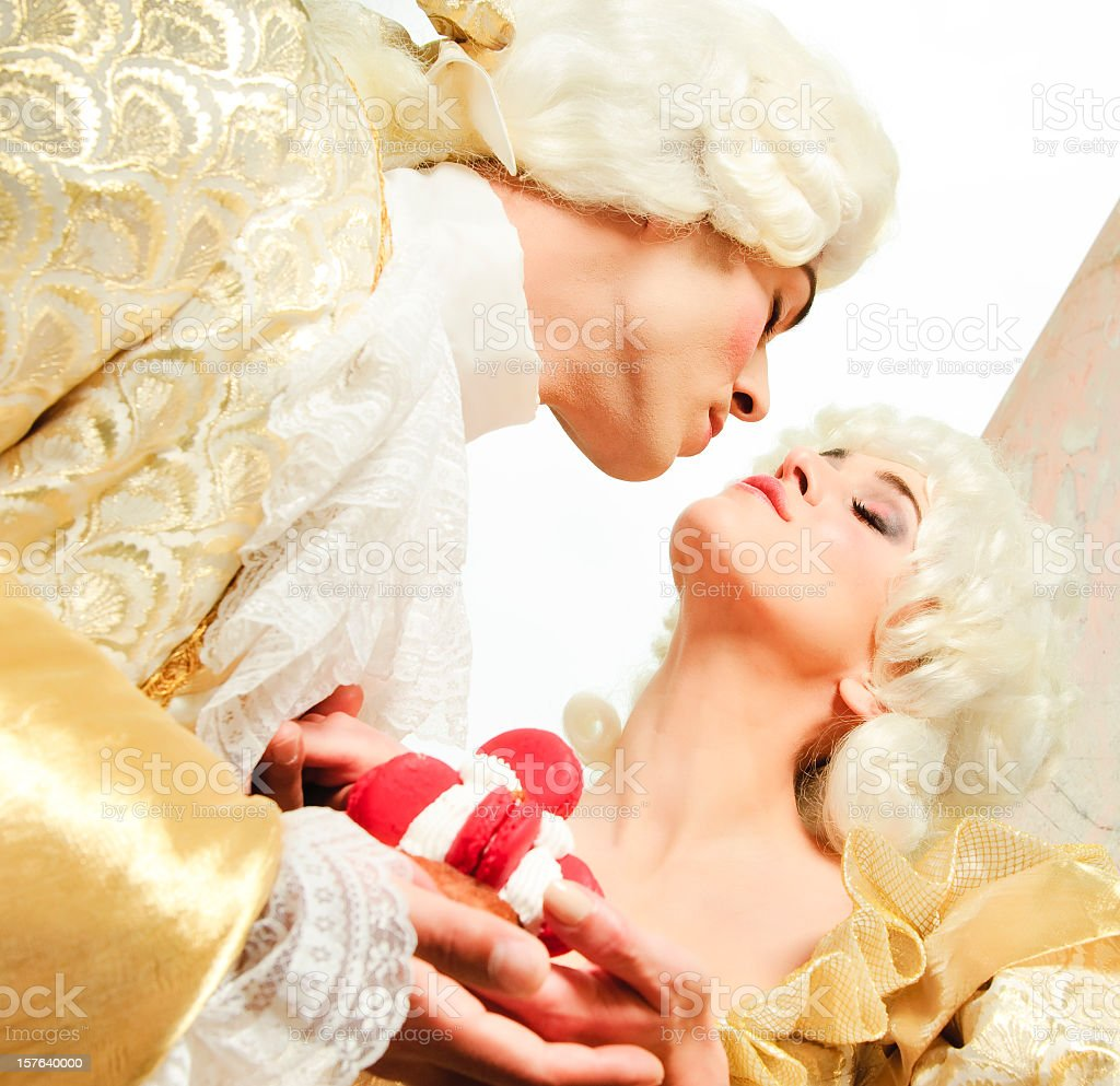Courtesan in love royalty-free stock photo