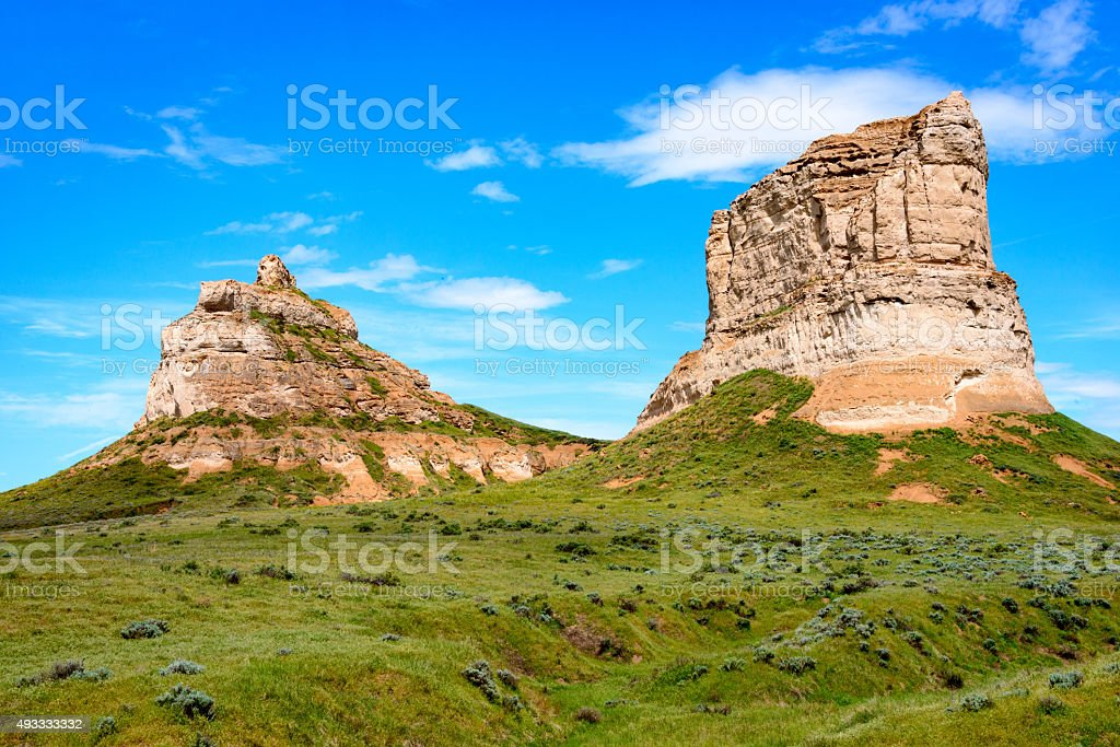 Courthouse and Jail Rocks stock photo