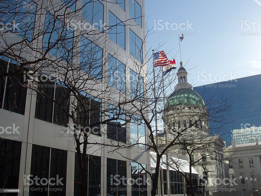Courthouse and Office Building stock photo