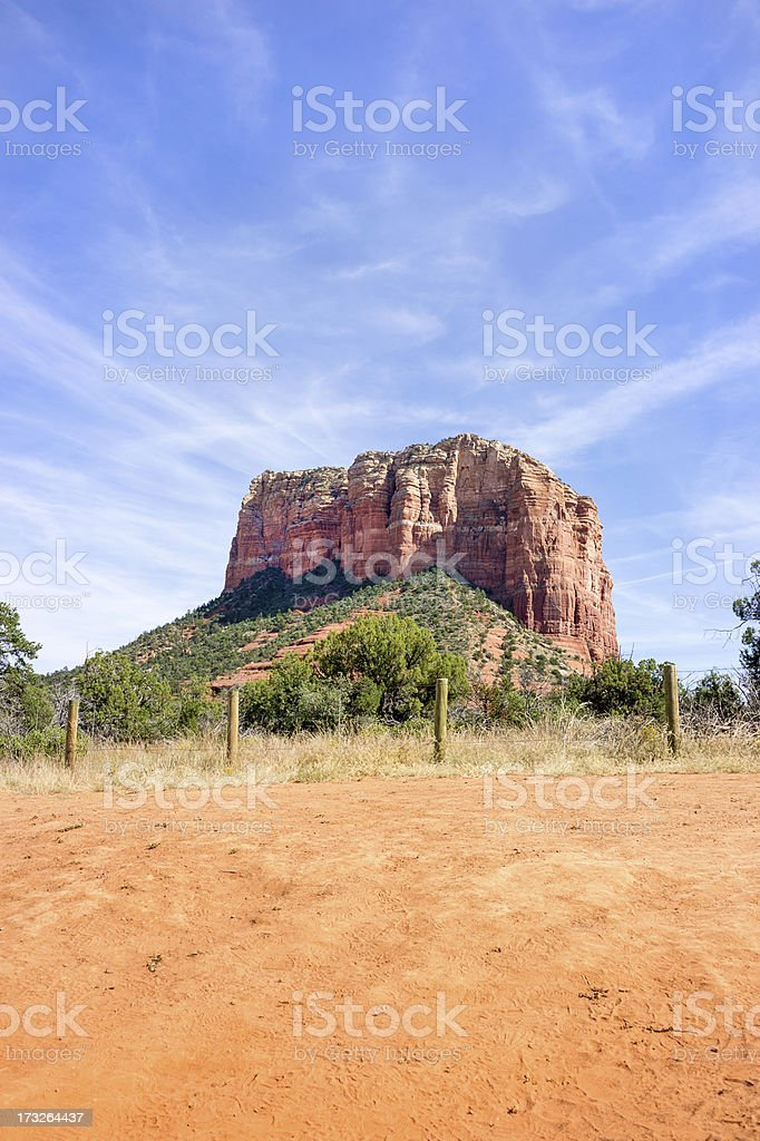 Courthouse Butte Near Sedona, Arizona stock photo