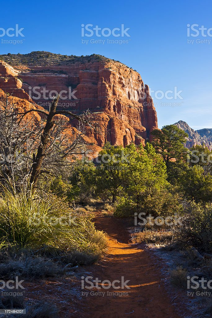 Courthouse Butte near Sedona stock photo