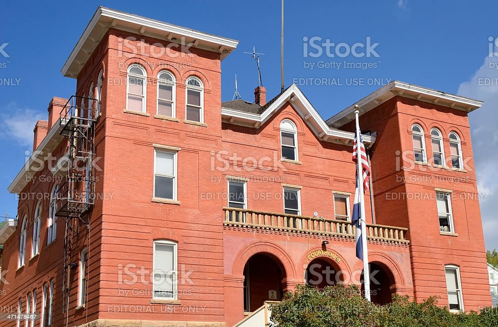 Courthouse, Central City, Colorado royalty-free stock photo