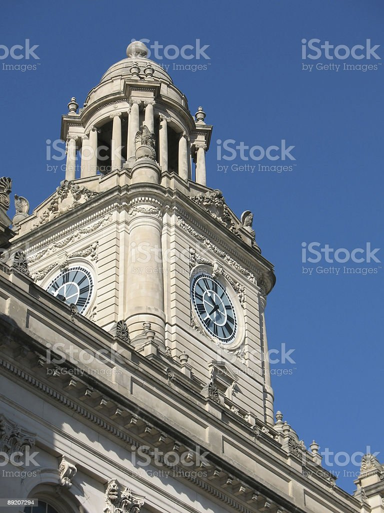 Courthouse clock stock photo