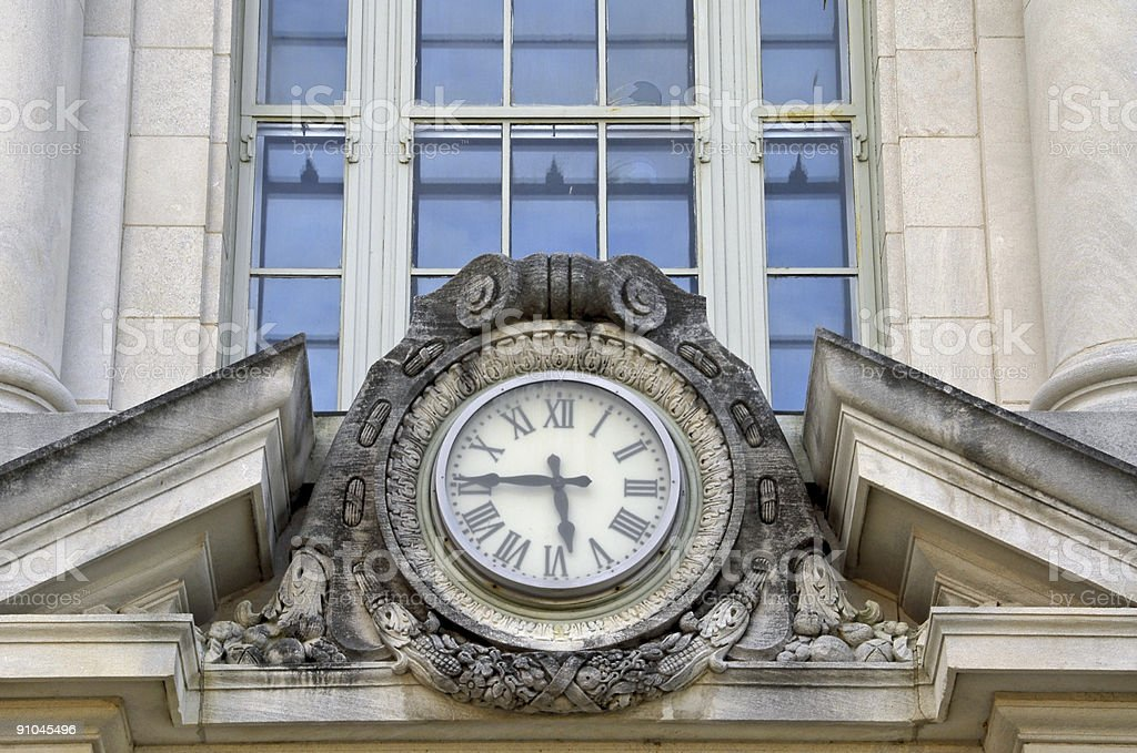 Courthouse Clock royalty-free stock photo