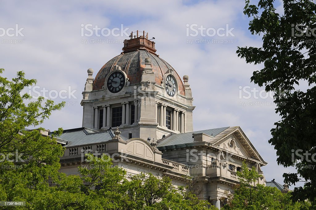 Courthouse Clock Tower royalty-free stock photo
