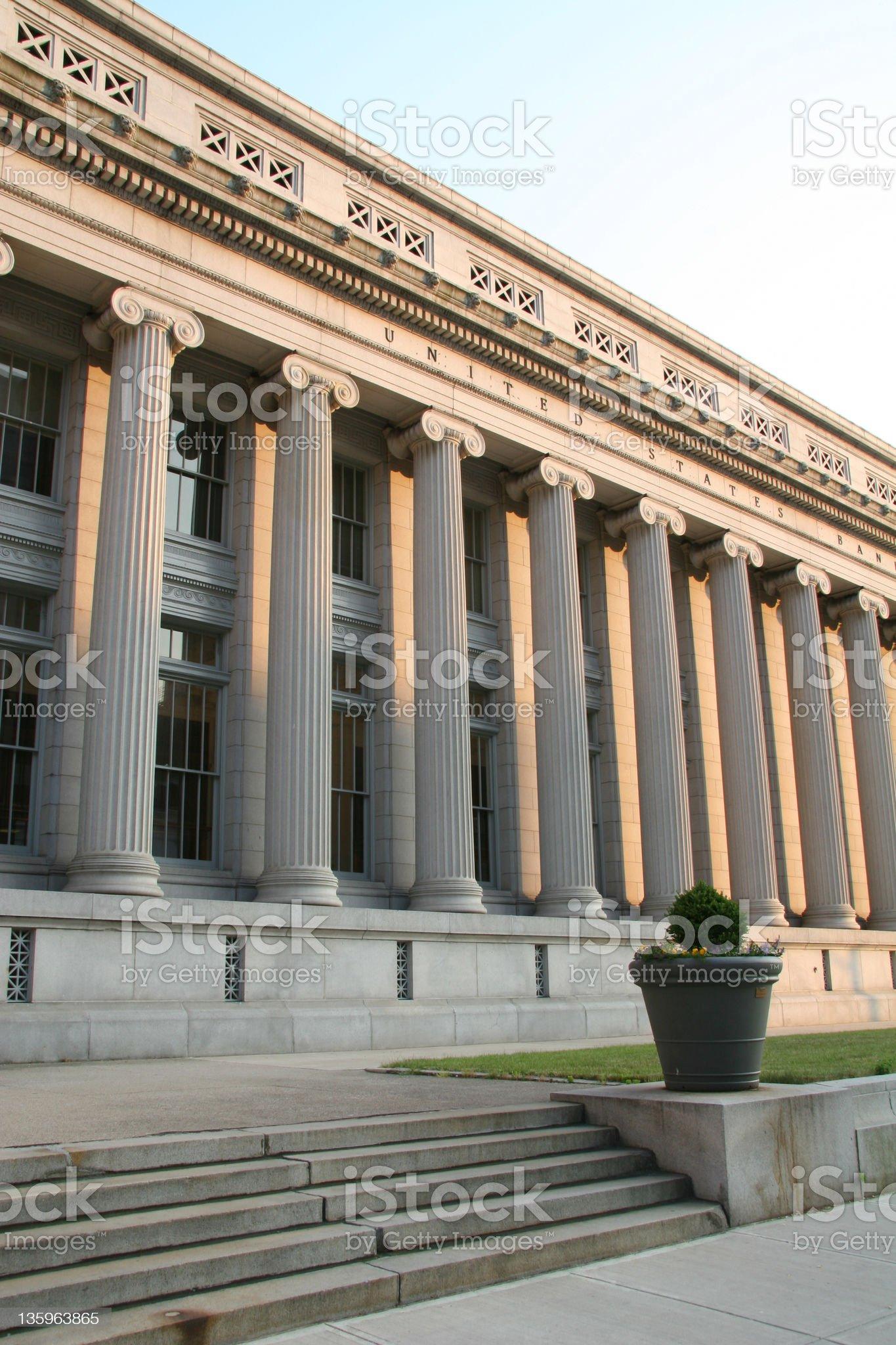 Courthouse Columns 1, Dayton, Ohio royalty-free stock photo