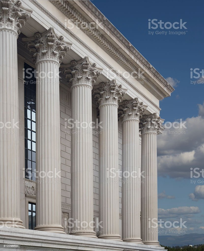 Courthouse Columns stock photo