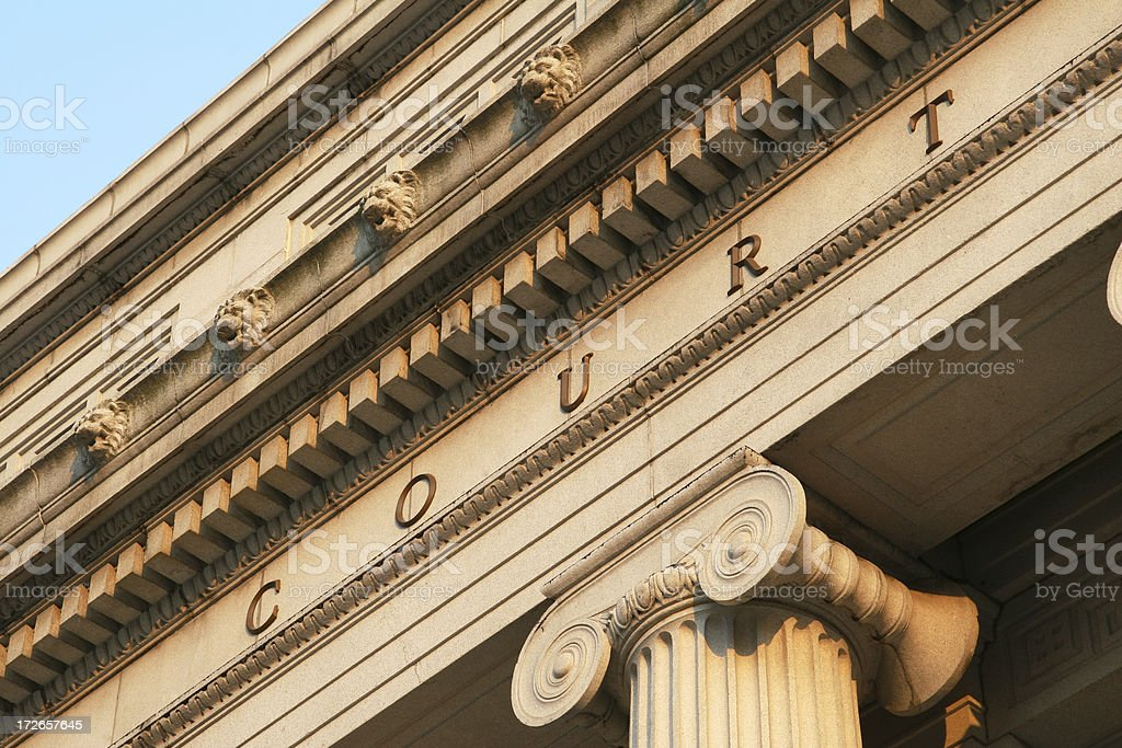 Courthouse Detail, Law, Legal, Court royalty-free stock photo