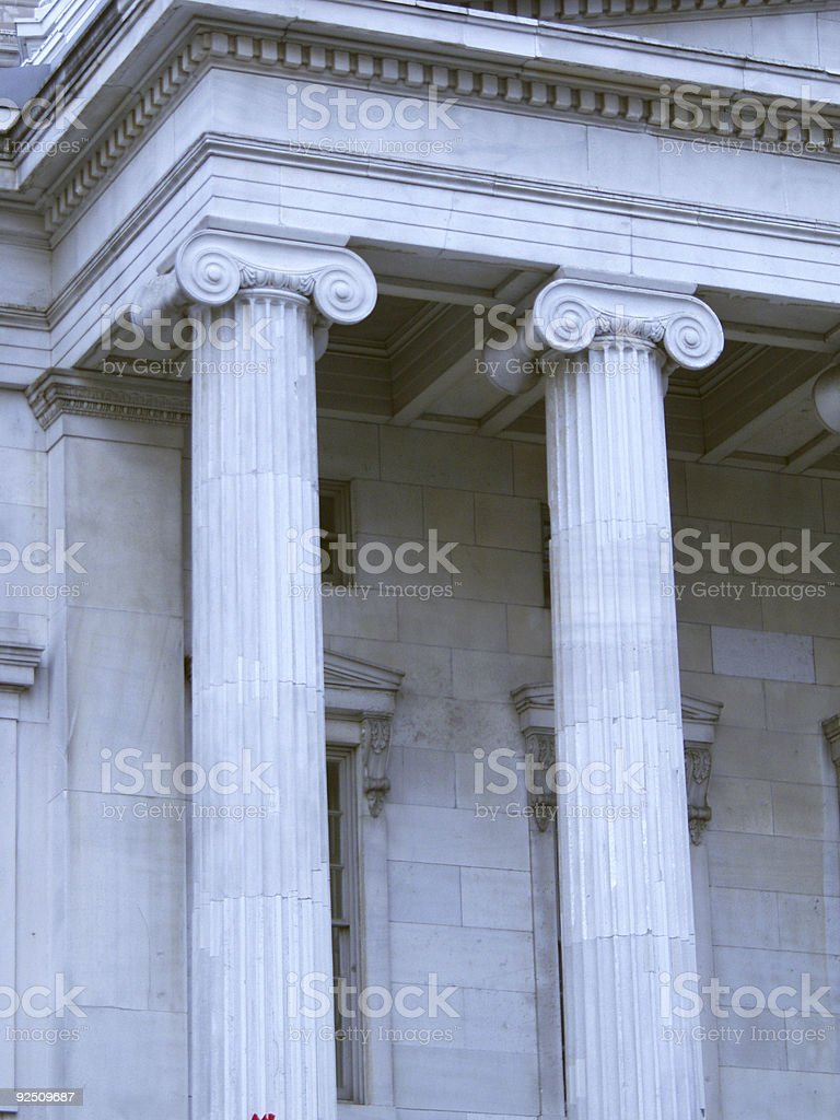 courthouse facade columns up close royalty-free stock photo