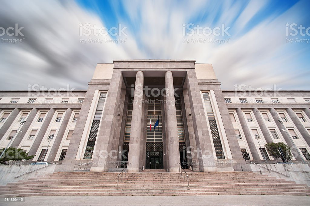 Courthouse in Cagliari - Sardinia stock photo
