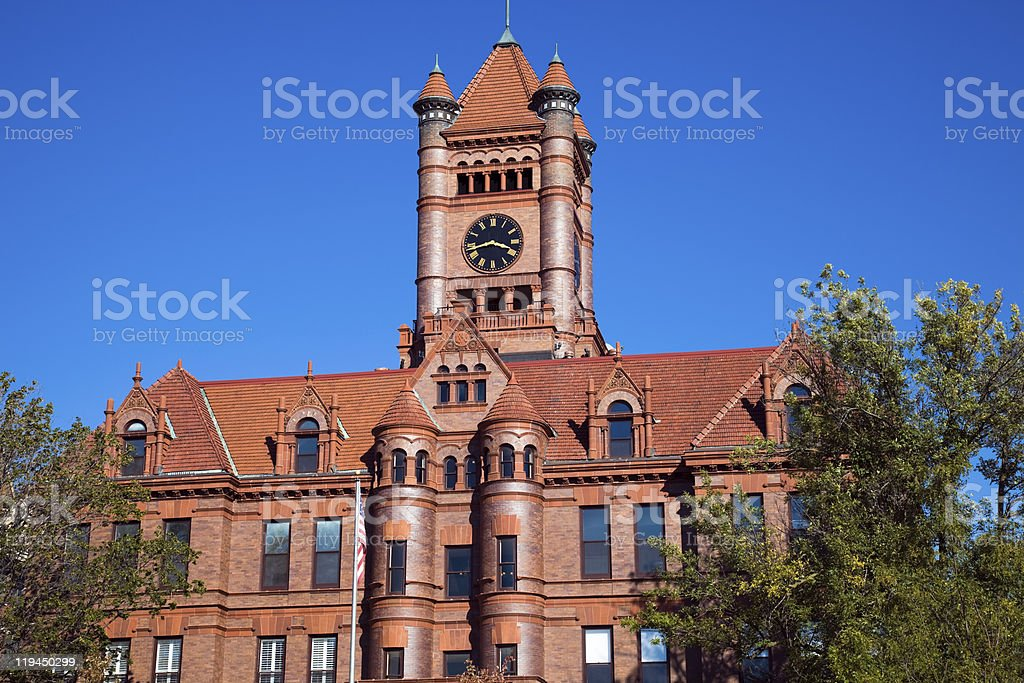 Courthouse in Wheaton royalty-free stock photo