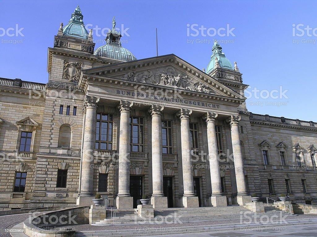 Courthouse Leipzig royalty-free stock photo