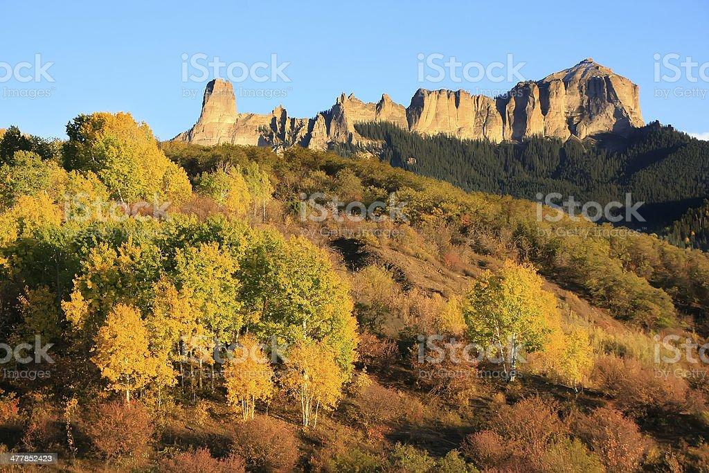Courthouse mountain, Colorado stock photo