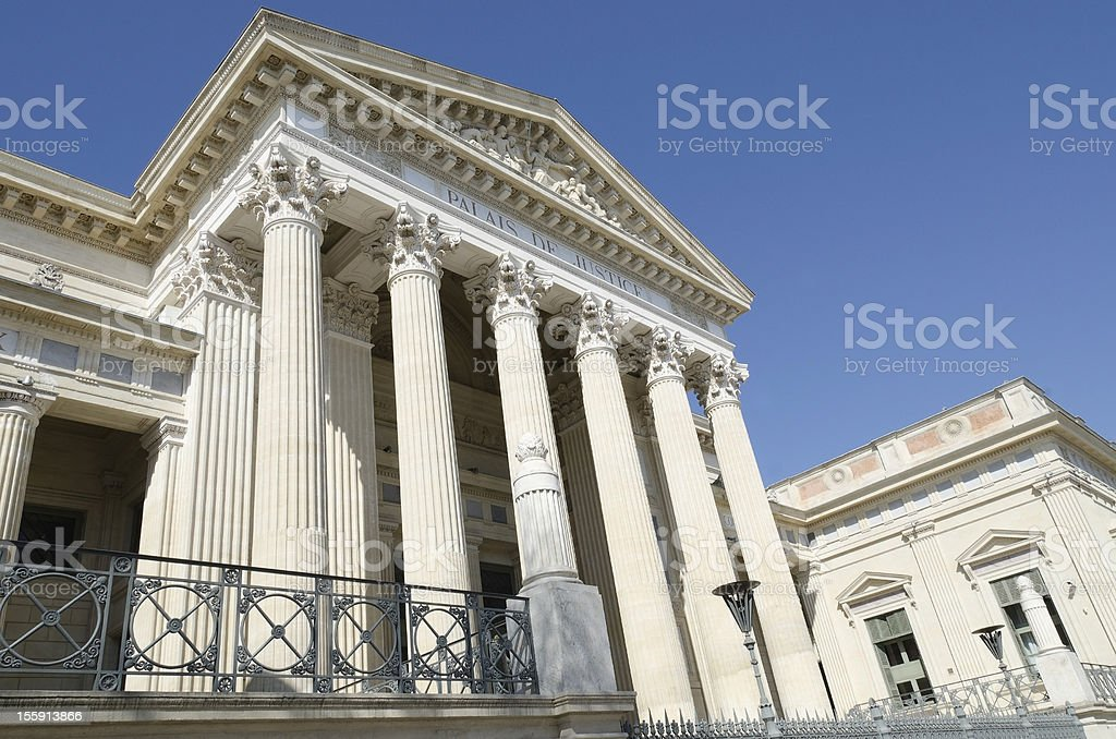courthouse of Nimes, France royalty-free stock photo