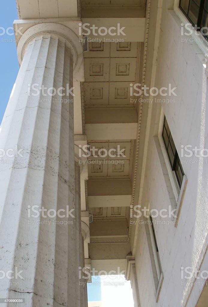 Courthouse Pillars stock photo