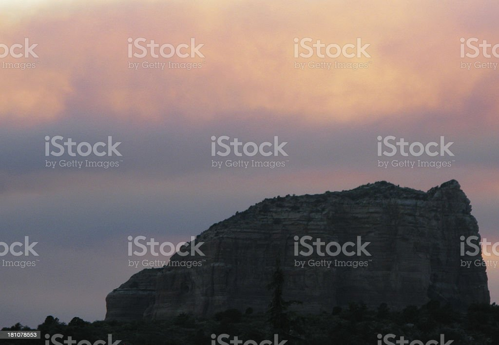 Courthouse Sedona Arizona Fire stock photo