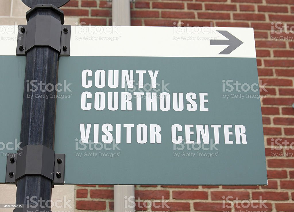 Courthouse Sign 3 stock photo