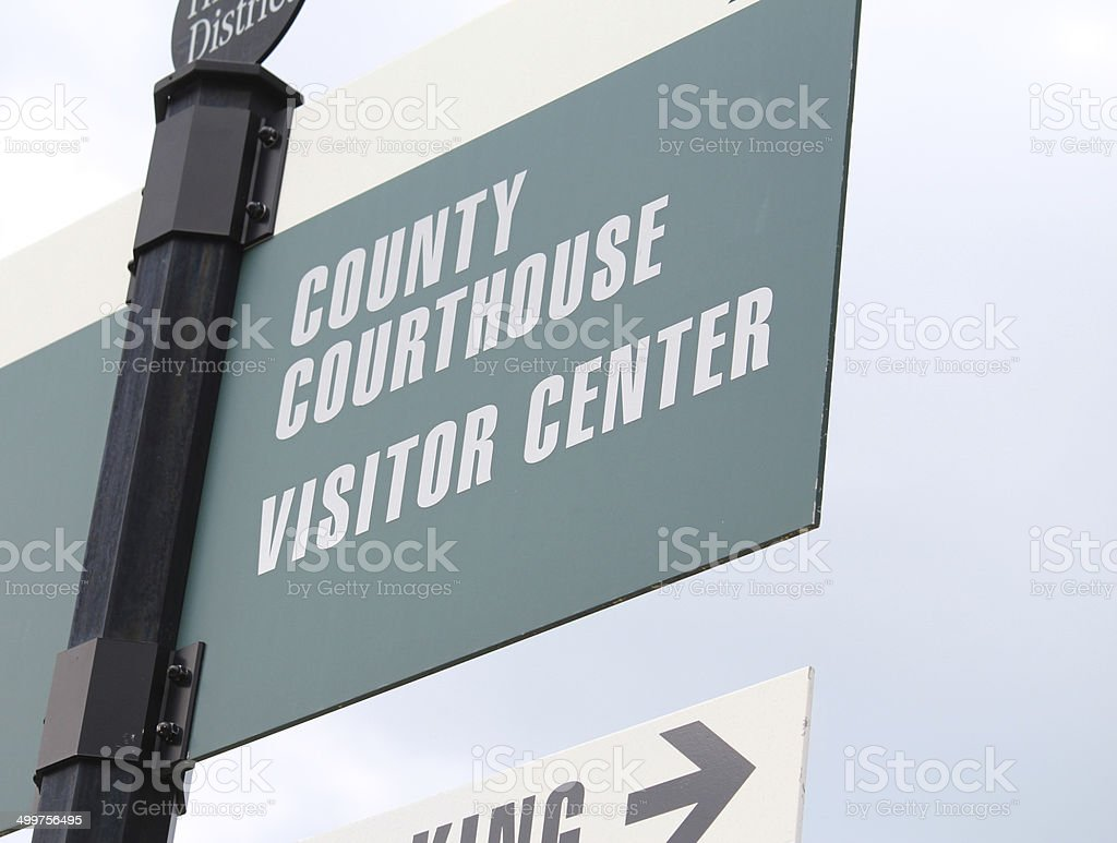 Courthouse Sign 4 stock photo