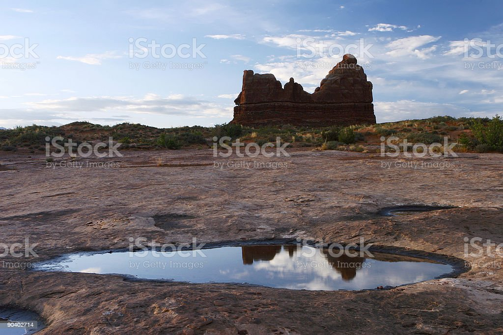 Courthouse Tower Area Arches National Park royalty-free stock photo