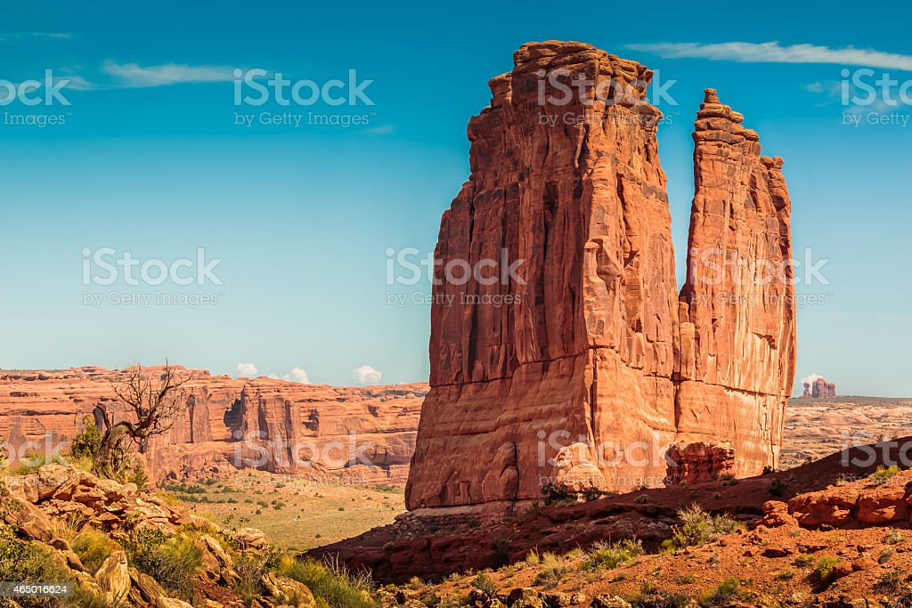 Courthouse Towers - Arches National Park - Utah stock photo