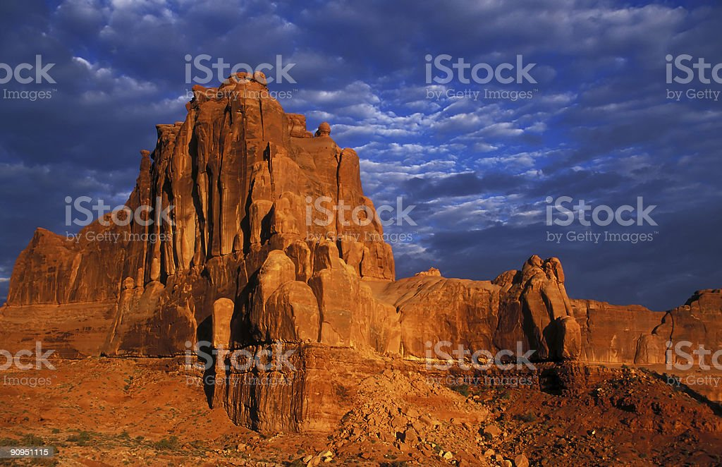 Courthouse Towers at Arches National Park stock photo