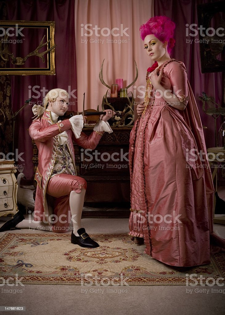 Courting royalty-free stock photo