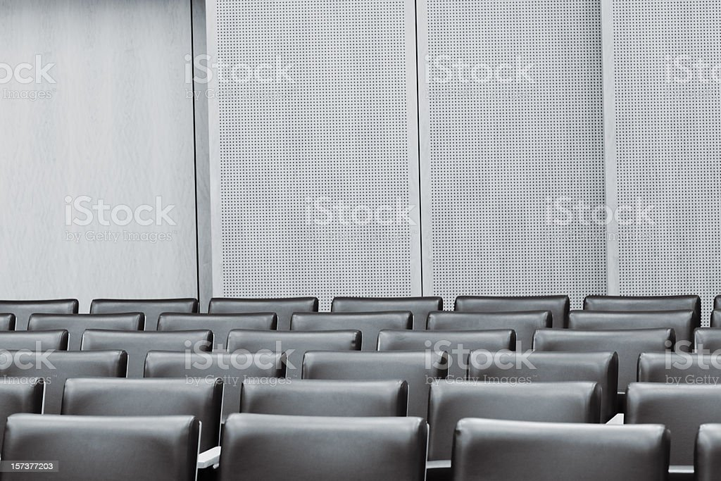 Courtroom Empty Seat stock photo
