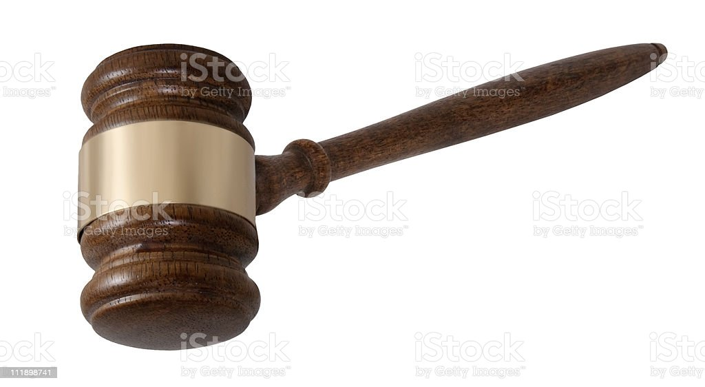 Courtroom Gavel royalty-free stock photo