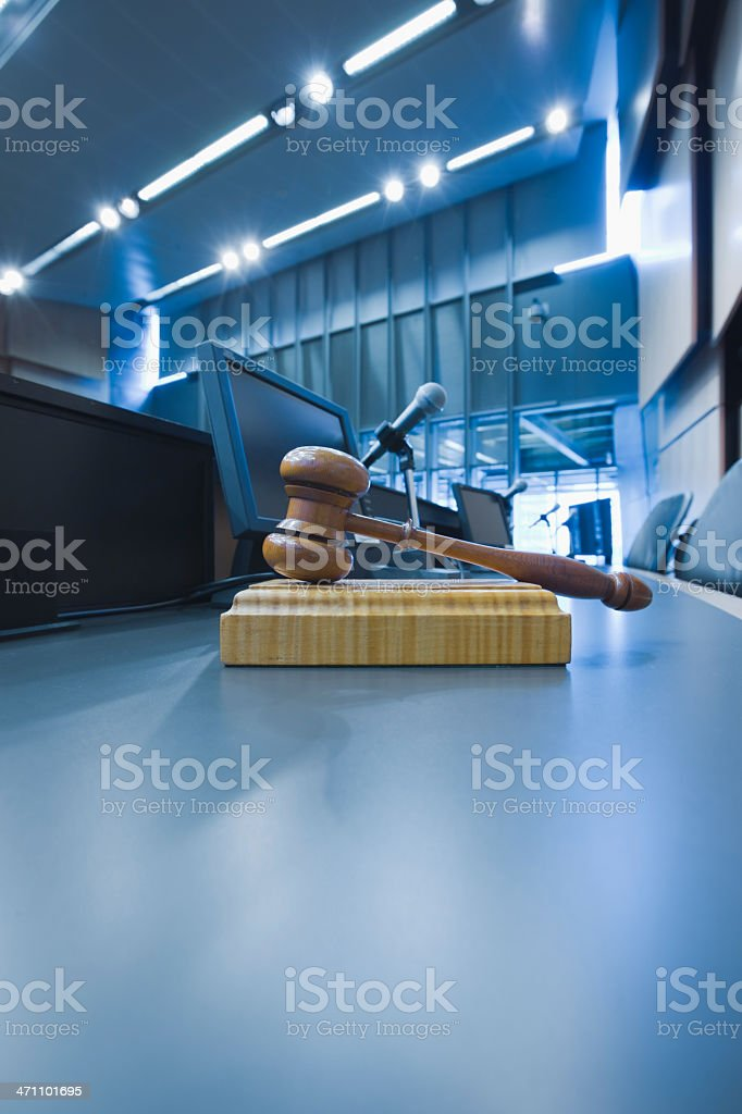 Courtroom Judges Gavel stock photo