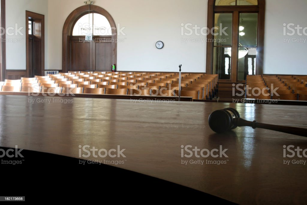 Courtroom. royalty-free stock photo