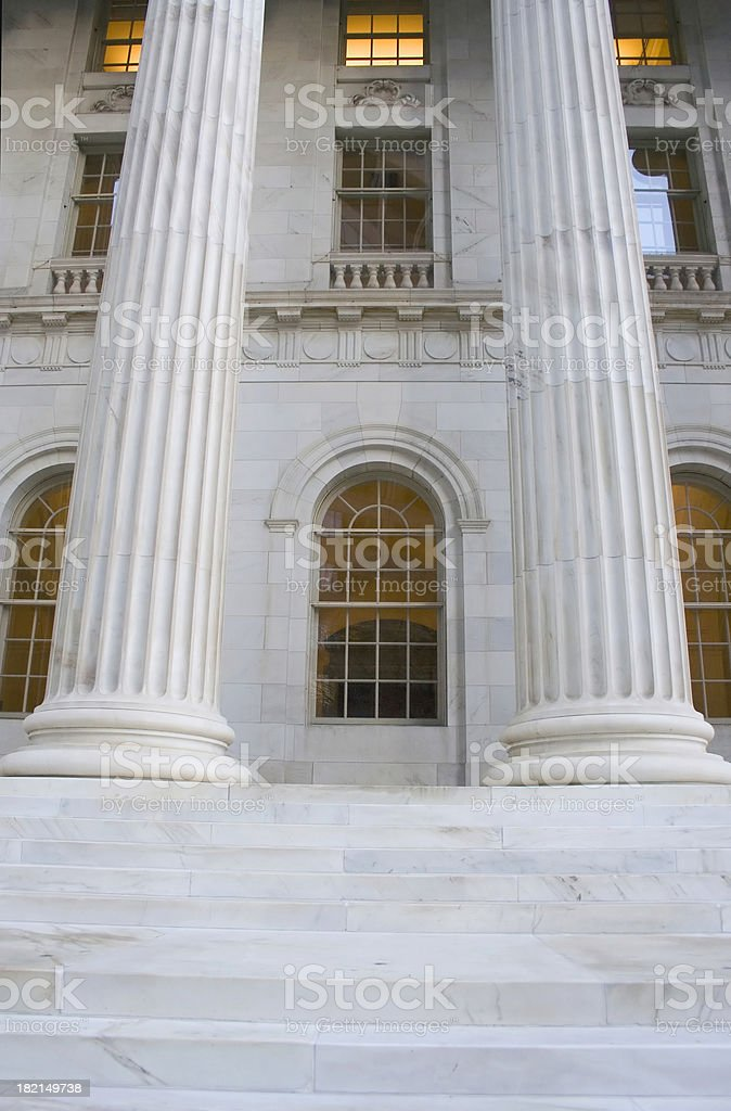 Courtroom Steps royalty-free stock photo