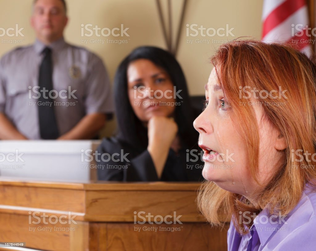 Courtroom Witness stock photo