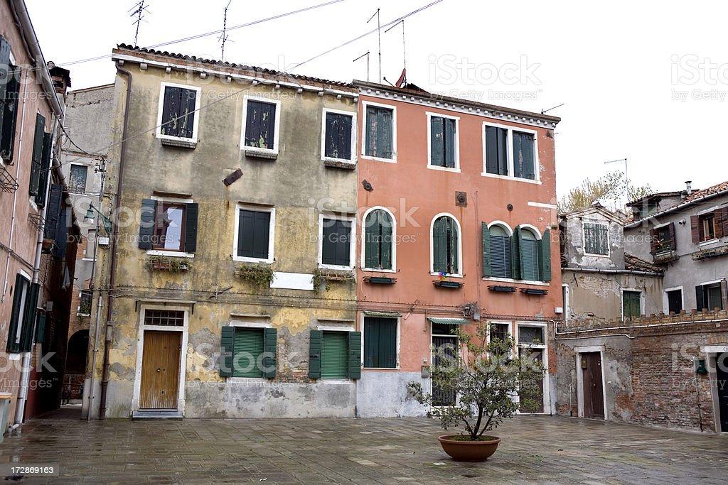 Courtyard Campo in Venice Italy royalty-free stock photo