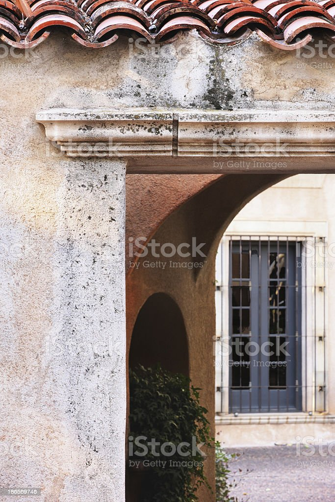 Courtyard Entrance Villa Architecture royalty-free stock photo