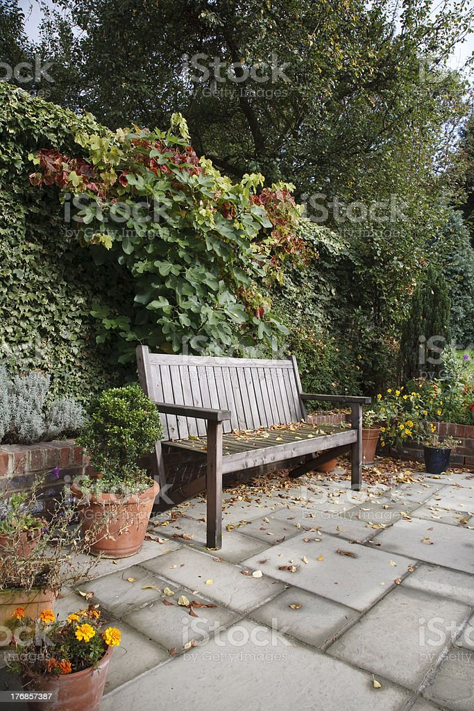 Courtyard garden royalty-free stock photo