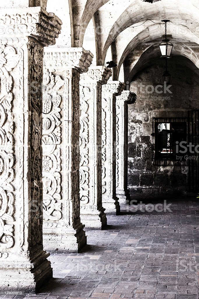 Courtyard in Arequipa Peru, South America. royalty-free stock photo