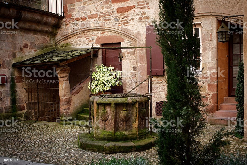 Courtyard in Millau royalty-free stock photo
