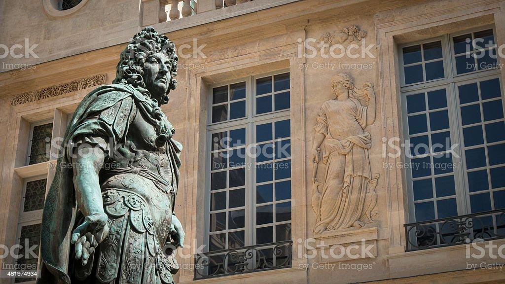 Courtyard in Paris stock photo