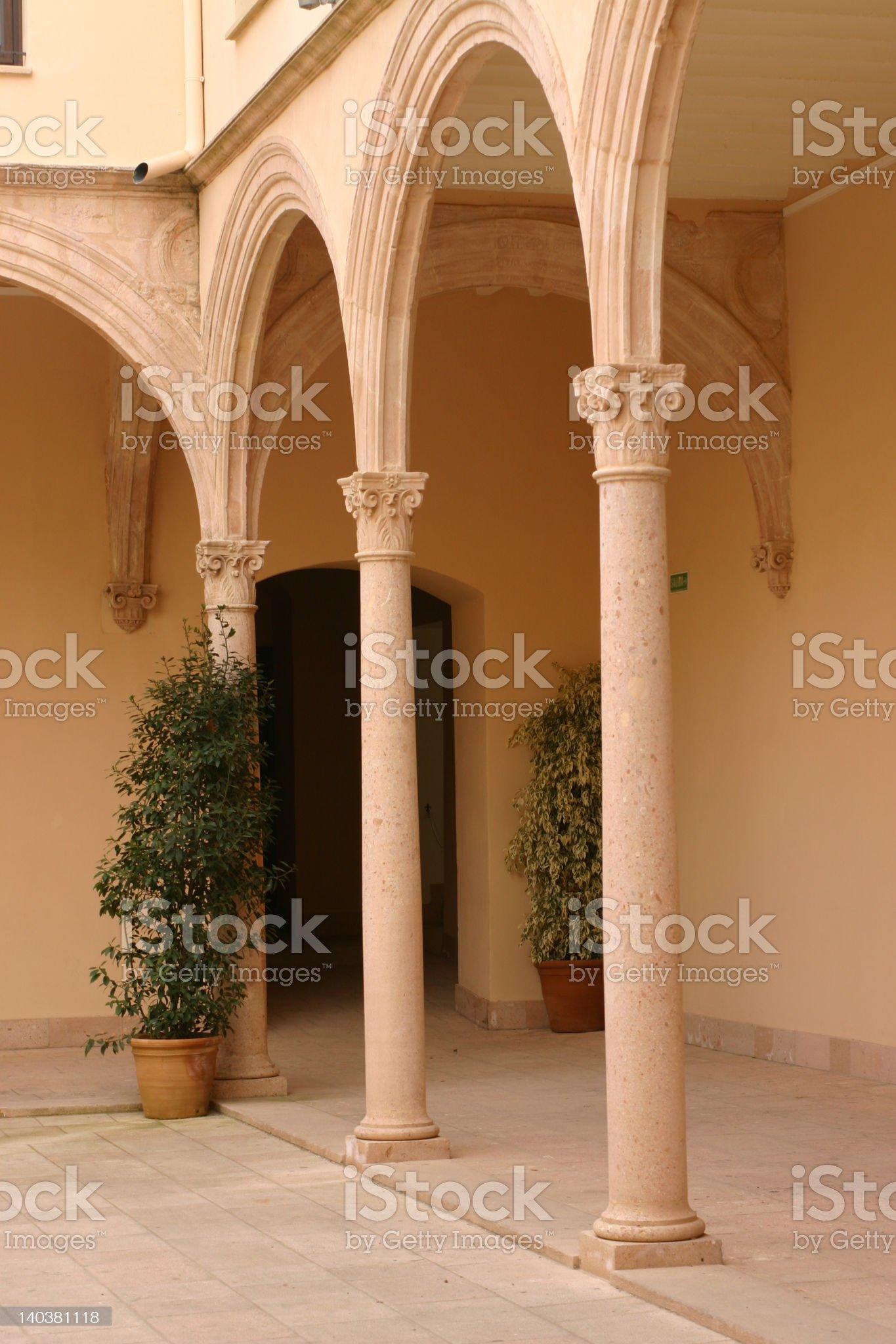 Courtyard in Ronda Spain royalty-free stock photo