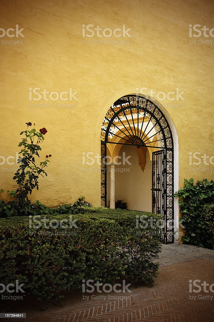 courtyard in sevilla royalty-free stock photo