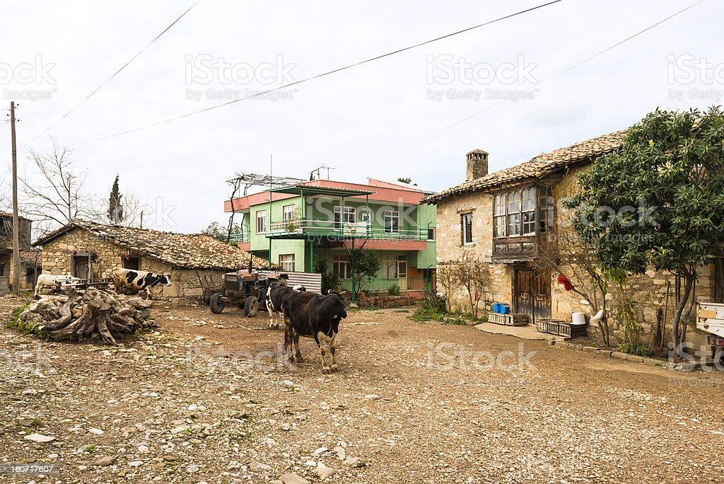 Courtyard in Tasagil stock photo