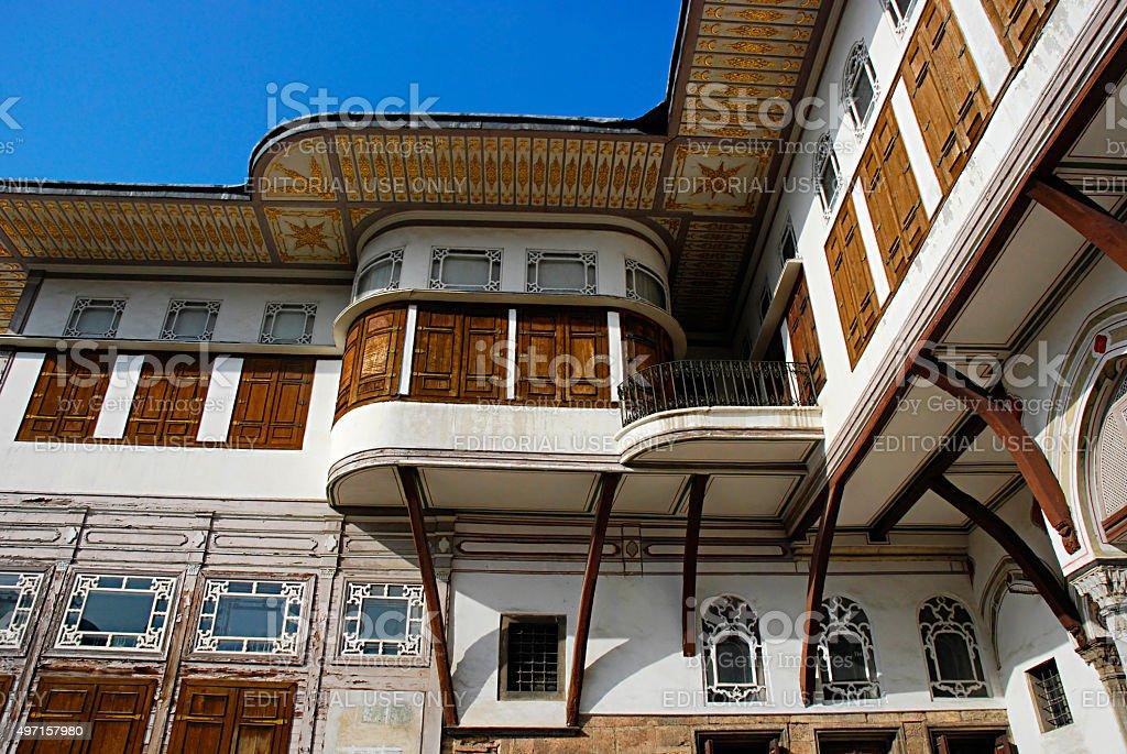 Courtyard in the harem,Topkapi Palace, Istanbul, Turkey. stock photo